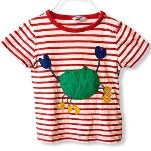 Baby Boden | Striped Crab T-Shirt (18-24 mos) 🦀